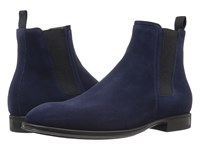Aquatalia By Marvin K Damon Navy Dress Suede Men's Shoes Blue