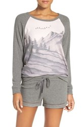 Pj Salvage Landscape Graphic Long Sleeve Tee Pink