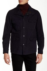 Diesel Jamede Genuine Leather Trim Flap Pocket Jacket Black