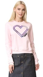 Carven Electric Heart Sweatshirt Pink