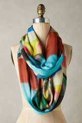 Anthropologie Graphic Pinwheel Infinity Scarf Pink