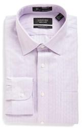 Nordstrom Men's Big And Tall Men's Shop Smartcare Tm Traditional Fit Stripe Dress Shirt Purple Villa