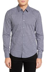 Hugo Men's Boss Reid Slim Fit Diamond Print Sport Shirt