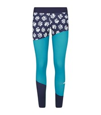 Adidas By Stella Mccartney Flower Running Tights Female Blue