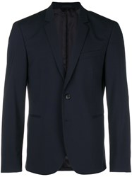 Paul Smith Ps By Single Breasted Jacket Blue