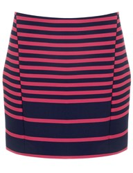 Thakoon Two Tone Striped Mini Skirt Multi