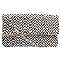 Miss Kg Haeleigh Clutch Bag Black White