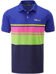 Rlx Ralph Lauren Multi Stripe Polo Blue