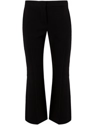 Alexander Mcqueen Cropped Flared Trousers Black