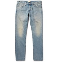 Simon Miller M001 Slim Fit Washed Denim Jeans Blue