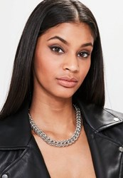 Missguided Silver Chunky Chain Necklace