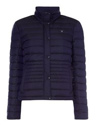 Gant Zip Up Light Down Padded Jacket Blue