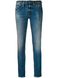 R 13 R13 Cropped 'Alison' Jeans Women Cotton Polyester Spandex Elastane 25 Blue