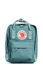 Fjall Raven Fjallraven Kanken Mini Backpack Forest Green Chess Pattern