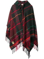 Vivienne Westwood Fringed Cape Red