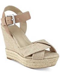 Guess Women's Sanda Wedge Sandals Women's Shoes Natural