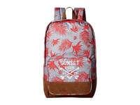 Roxy Pink Sky Girl Backpack Indo Floral Heritage Heather Backpack Bags Gray