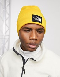 The North Face Dock Worker Recycled Beanie In Yellow