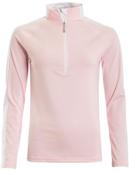 Green Lamb Lily Long Sleeve Top With Contrast Panel Pink