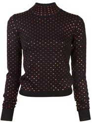 Adam Selman Heart Polka Dot Jumper Black