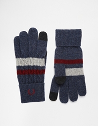 Fred Perry Cable Tipped Touch Screen Gloves Navy