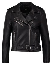Only Onlclara Faux Leather Jacket Black