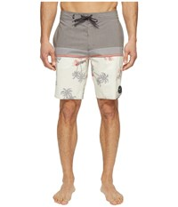 Vans Two Harbors Boardshorts Turtle Dove Havana Floral Men's Swimwear White