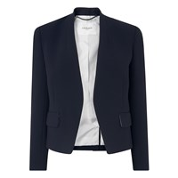 Lk Bennett L.K. Pru Satin Back Jackets Navy