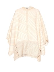 Sonia Rykiel Diagonal Knit Cotton Blend Poncho