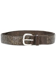 Orciani Woven Belt Brown