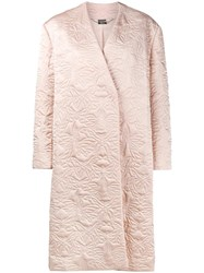 Alexander Mcqueen Butterfly Embroidered Cocoon Coat Pink And Purple