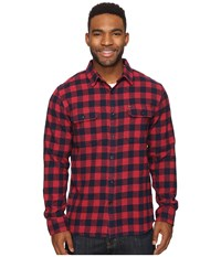 Rip Curl Kingsford Long Sleeve Flannel Red Men's Long Sleeve Button Up