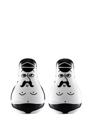 Normann Copenhagen Friends Salt And Pepper Shakers Black White