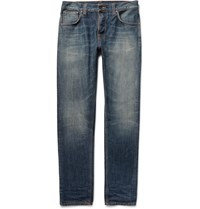 Nudie Jeans Steady Eddie Washed Organic Denim Jeans Blue