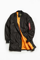 Alpha Industries L 2B Long Bomber Jacket Black