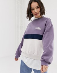 Pull And Bear Pullandbear Pacific Sweatshirt In Lilac Purple