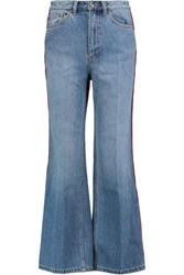 Marc By Marc Jacobs High Rise Cropped Wide Leg Jeans Mid Denim