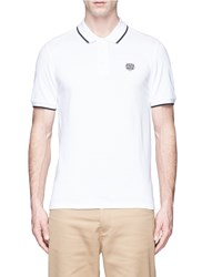Kenzo Tiger Head Patch Polo Shirt White