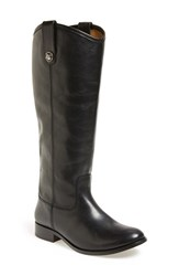 Women's Frye 'Melissa Button' Boot Black Leather Extended Calf