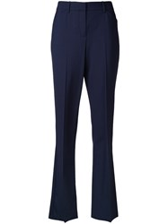 Theory Bootcut Trousers Blue