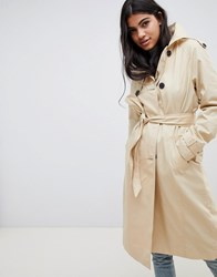 Pimkie Double Breasted Trench Coat Beige
