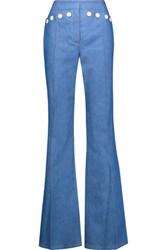Derek Lam Sailor Denim Bootcut Pants Mid Denim