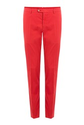 Etro Cotton Suit Pants Red