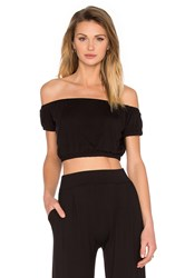 De Lacy Lulu Crop Top Black
