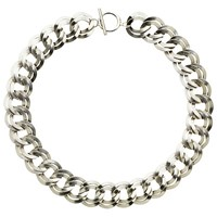 Monet Double Chain Necklace Silver