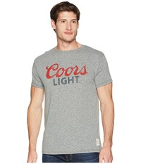 The Original Retro Brand Vintage Tri Blend Coors Light Tee Streaky Grey T Shirt Pewter