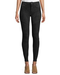 Dex Faux Suede Moto Leggings Black