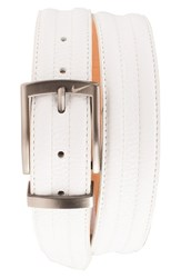Men's Nike Golf 'G Flex Tripunto' Leather Belt White