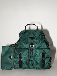 Prada Nylon Canvas Backpack Smeraldo