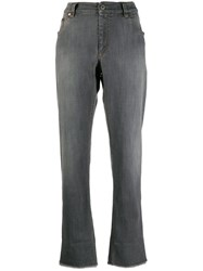 Brunello Cucinelli Raw Cuff Jeans Grey